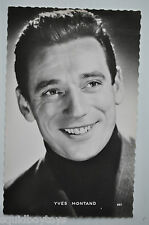 - YVES MONTAND Real Photograph / Photo POSTCARD 1950s  -