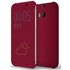 HTC HC M100 Dot View Flip Case for HTC One (M8) (Purple)
