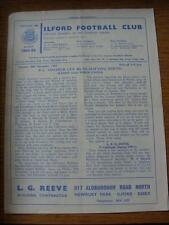 30/11/1963 Ilford v Fords United [FA Amateur Cup] (four pages, folded, team chan