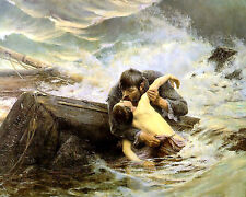 Alfred Guillou Adieu - - 24' Canvas