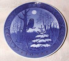 1974 Royal Copenhagen Christmas Xmas Plate Winter Twilight Owl Kai Lange