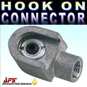HOOK ON TYPE GREASE GUN CONNECTOR LUMATIC HOC1 1/8 BSP