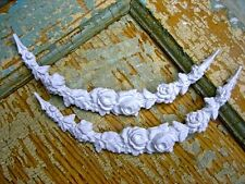 SHABBY n CHIC ROSE SWAGS (2 )  *FURNITURE APPLIQUES / EBAYS # 1 DEALER WHOLESALE