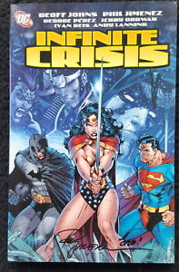 SIGNED by P. Jimenez Infinite Crisis #1 DC Comics Batman Superman Wonder Woman