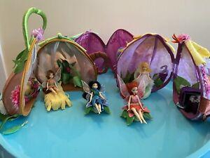 Rare: Disney Fairies Dolls And Playhouse Set