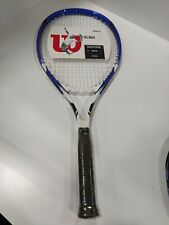 "Wilson Os Max Oversize Head 4-3/8"" Tennis Racquet Blue Black White"