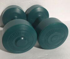 Set of 2 Bollinger Green Plastic 5 lbs Dumbbells 10 lbs total 2.27 kg Pair