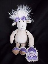 "12"" Jellycat SWEET DREAMS SHEEP GOAT LAMB tan purple plush stuffed toy"