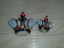 pair TRIFARI CROWN pin brooch Alfred Philippe Pins Brooches Sterling 137542