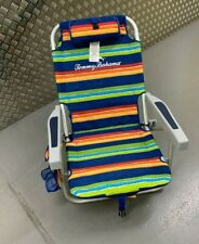 More details for tommy bahama beach chair in flip flop stripe folding towel bar 136 kg *read*