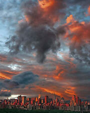 Clouds Over New York City Travel Poster Hank Gans 16x20