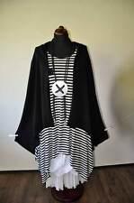 Estilo De Capas a-linie-big-jacke Capucha Jersey negro talla única 44,46, 48,50,