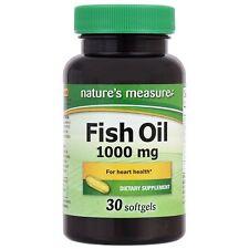 OMEGA 3 FISH OIL 1000mg 30 SOFTGEL GOOD HEART VITAMINS Nature Measure New Sealed