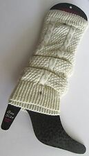 Steve Madden Legwear IVORY KNIT LEG WARMERS One Size BOOT TOPPERS NEW Cable