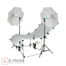 Professional Studio Still Life Table Product Shooting Table 100X200cm + 6x125W