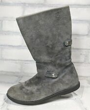 """BUMBUMS and Baubles """"Belle"""" GRAY SUEDE BOOTS Girl's Youth Size 3 SHIPS FAST!"""