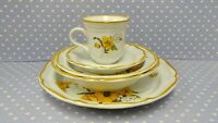 Mikasa Baronial Florian Yellow Flowers Poppies Butterfly 5 pc Place Setting