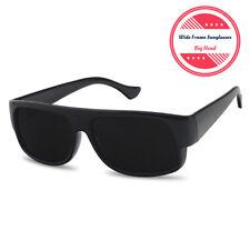 XL Large Super Dark OG Cholo Wide Frame Sunglasses Black Lowrider Loc Gangster
