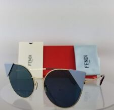 a650f3570c6b Brand New Authentic Fendi FF 0190 S Sunglasses 000A9 Gold Blue Frame M0190 S