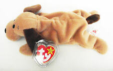 TY BEANIE BABY BONES DOG PVC 5TH GEN HANG TAG 6TH GEN TUSH ERRORS RETIRED NEW