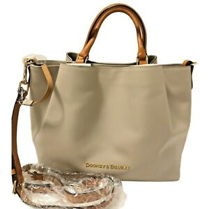 Dooney And Bourke Large Smooth Leather City Barlow Tote Satchel OYSTER NWT $368