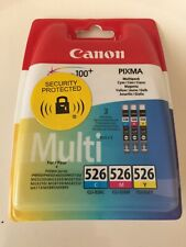 GENUINE CANON CLI 526-CMY INK CARTRIDGE MULTIPACK CYAN MAGENTA YELLOW