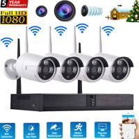 4CH 1080P/ 720P Wireless DVR Wifi IP Camera HD CCTV Home Security Video System