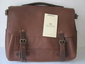 Bleu de Chauffe Postman Messenger Briefcase Bag Brown NEW WITH TAGS