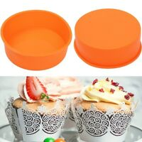 """7"""" Round Silicone Cake Mold Pan Muffin Pizza Pastry Baking Tray Mould #LK3C"""