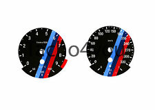 BMW Tachoscheiben für 3er E90 & 5er E60 Benziner 330 kmh km/h M3 M5 5020 Schwarz