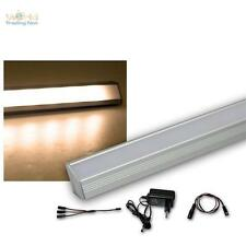 2er set LED alu-Eck-barra de luz blanco cálido + transformador unterbauleuchte lámpara de cocina
