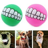 Soft Rubber Ball Pet Dog Toy Training Chew Play Fetch Bite Toys UK