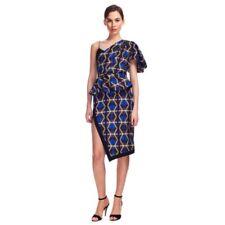 Lublu kira Plastinina One-Shoulder Graphic Print Peplum dress Moda Operandi