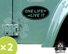 2x One Life Live it STICKERS LAND ROVER 4x4 Car Defender Discovery Freelander