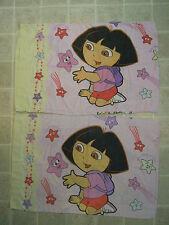 DORA THE EXPLORER 2-Piece PILLOWCASE SET Pink Star light Bright Estrella Cartoon