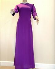 Ao Dai Vietnamese Long Dress with Pants (Free Priority shipping)