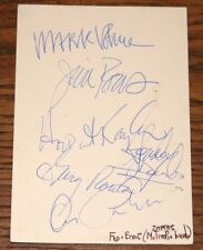FLO & EDDIE PHLORESCENT LEECH FULLY SIGNED MOUNTING CARD FRANK ZAPPA THE MOTHERS