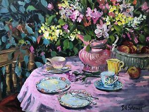 🔥 RARE Modern Jewish Impressionist Still Life Oil Painting - Bill Salamon