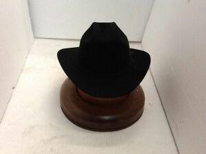 Stetson Cowboy Hat 6X Beaver Fur Black RANGE With Free Hat Brush