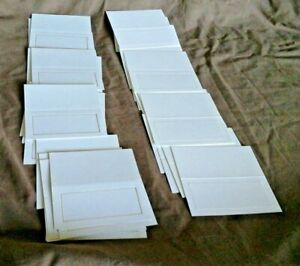 BLANK PLACE CARDS  (Use for any occasion)  x 33       (White)