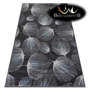 MODERN amazing RUGS 'HEOS' Feathers grey blue CARPETS ORIGINAL best quality