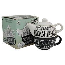 YORKSHIRE TEA POT FOR ONE AND MUG SET - Tell A Yorkshireman Saying COFFEE CUP