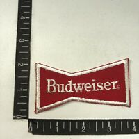 Vtg Embroidered Twill BUDWEISER BEER Bow Tie  Advertising Patch 07F