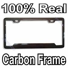 REAL 100% CARBON FIBER LICENSE PLATE FRAME TAG COVER ORIGINAL 3K TWILL JDM /FF D