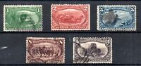 US 1898 Trans Mississippi part fine used set to 10c WS21554