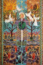 Art Colorful Fantasy Mural Ceramic Backsplash Bath Tile #727