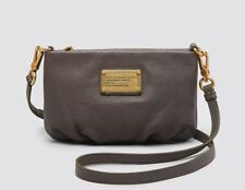 NWT Marc by Marc Jacobs Classic Q Percy Leather Crossbody Bag Aluminum Grey AUTH