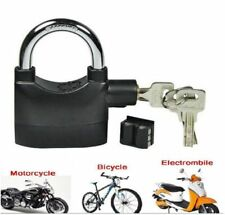 Alarm Black Padlock Anti-Theft Security System Lock with Alarm for Bicycle Door