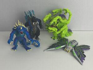 Godzilla Wars 40th Anniversary Figures Toho Trendmasters 1995 Lot Of 4 Rare.