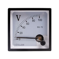 1pcs DC 100V High Quality Analog Volt Panel Meter